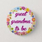 Baby-Duschen-Abzeichen - große Großmutter zum zu Runder Button 5,7 Cm
