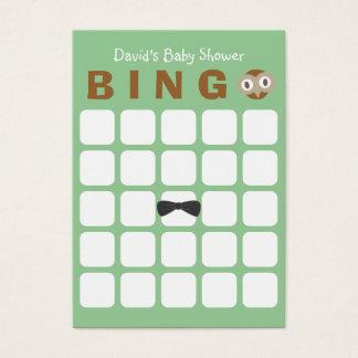 Baby-Duschen-Bingo-Karte der Waldgrün-niedliche Visitenkarte