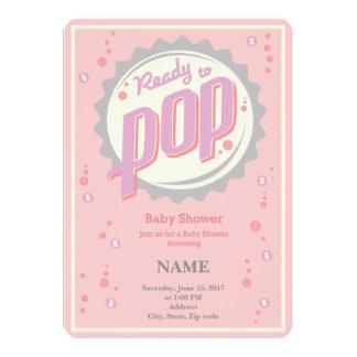 Baby-Duschen-Einladung (Mädchen) - bereiten Sie 12,7 X 17,8 Cm Einladungskarte