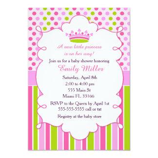 Baby-Duschen-Party-Minzen-Rosa 12,7 X 17,8 Cm Einladungskarte