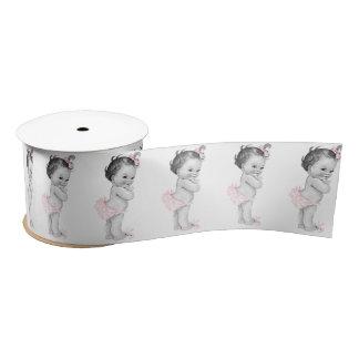 Baby-Duschen-Pastellrosa-Vintages kleines Mädchen Satinband