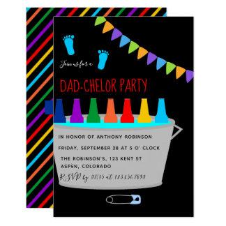 Baby-Duschen-Taufevati-chelor Bier-Fass-Party Karte