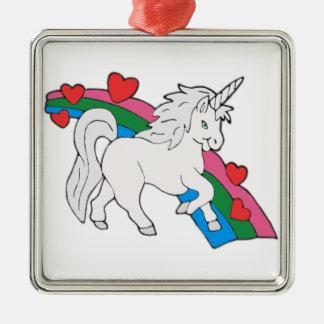 Baby-Einhorn Silbernes Ornament