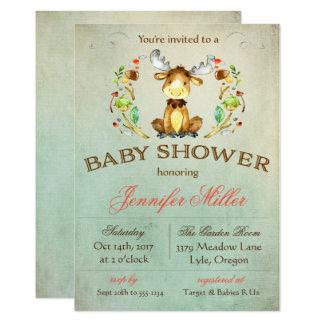 Baby-Elch-Duschen-Einladung Karte
