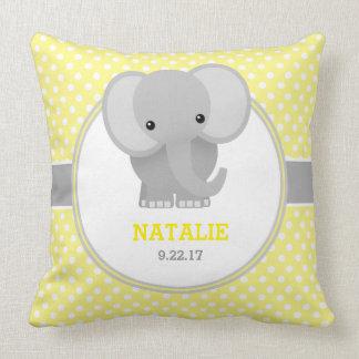 Baby-Elefant (Gelb) Zierkissen