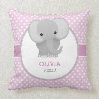 Baby-Elefant (Rosa) Zierkissen