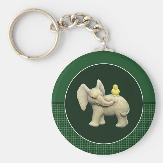 Baby-Elefant u. gelbe Ente Schlüsselanhänger
