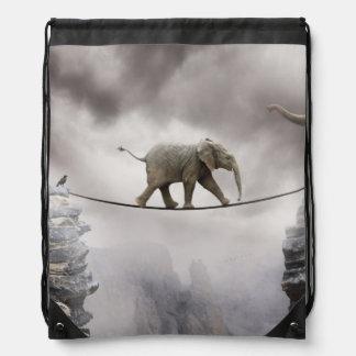 Baby-Elefant-Wege das Drahtseil Sportbeutel