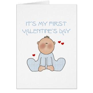 Baby-erster Valentinstag Karte