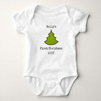 Baby-erster WeihnachtenOnsie Bodysuit Baby Strampler