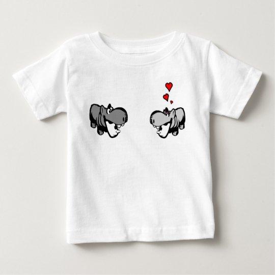 Baby-feiner Jersey-T - Shirt - Flusspferd in der