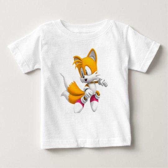 Baby-feiner weißer Jersey-T - Shirt