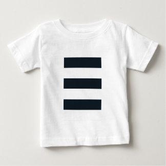 Baby-feines Jersey-T-Shirt: Schwarz u. Weiß Baby T-shirt