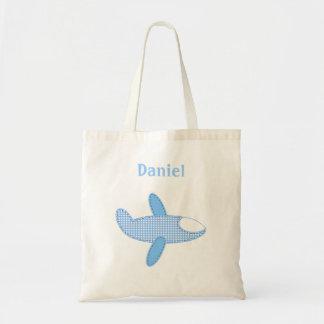 Baby-Flieger Tasche-Blau Budget Stoffbeutel