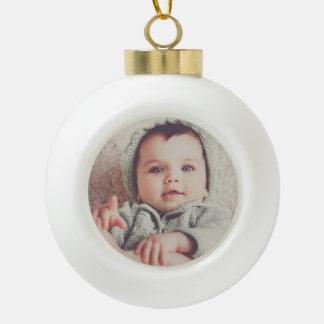 Baby-Foto-runder Ball-Verzierung Keramik Kugel-Ornament