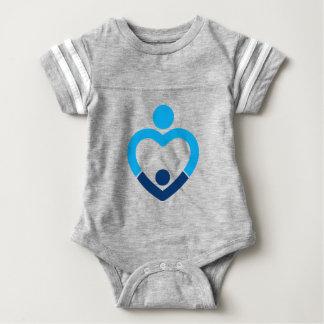 Baby-Fußball-Bodysuit - Grau Babybody