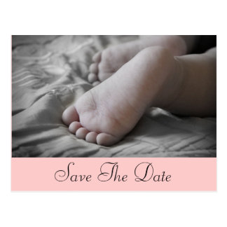 Baby-Füße Postkarte