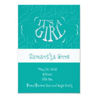 Baby-Geburts-Mitteilung 8,9 X 12,7 Cm Einladungskarte
