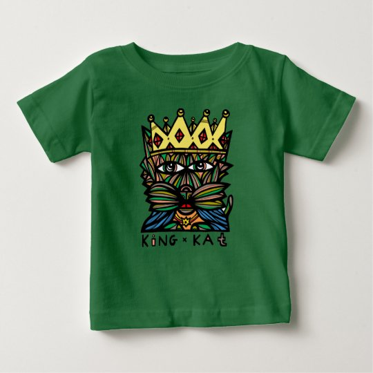 "Baby-Geldstrafe-Jersey-T - Shirt ""König-Kat"""