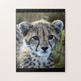 Baby-Gepard-Puzzlespiel