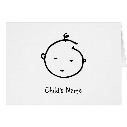 Baby-Gesicht danken Ihnen zu kardieren Karte