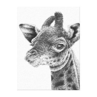 Baby-Giraffe dehnte Leinwand-Druck aus Leinwanddruck