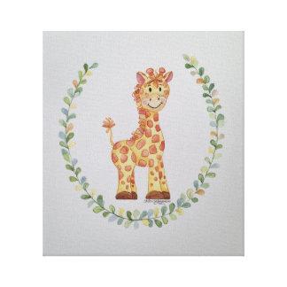 Baby-Giraffe Leinwanddruck