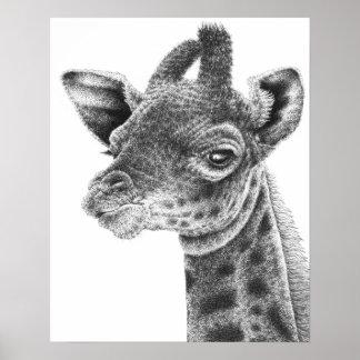 Baby-Giraffen-Plakat Poster