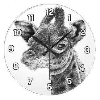 Baby-Giraffen-Wanduhr Große Wanduhr