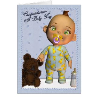 Baby-Glückwünsche Karte