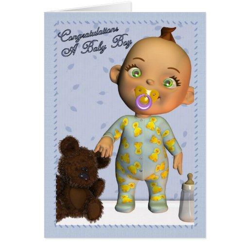 Baby-Glückwünsche Karten