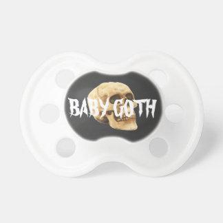 Baby goth Text und Schädel Schnuller