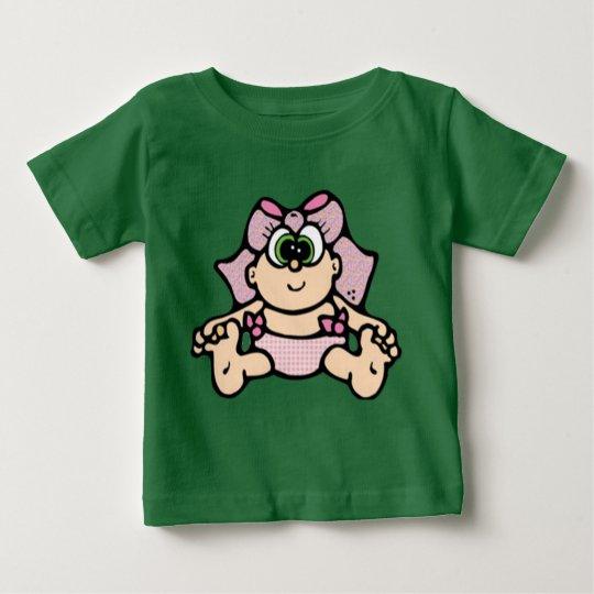 Baby Gurl grüne Augen Baby T-shirt