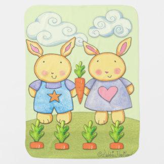 Baby-Häschen-Fleecedecke Babydecken