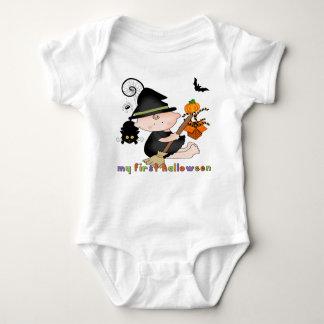 Baby-Hexe mein 1. Halloween-Säuglings-Strampler Baby Strampler