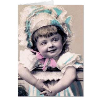Baby in einer Mütze Karte