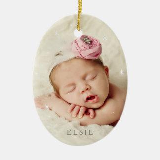 Baby ist es kalte Außenseite im Rosen-Quarz Keramik Ornament