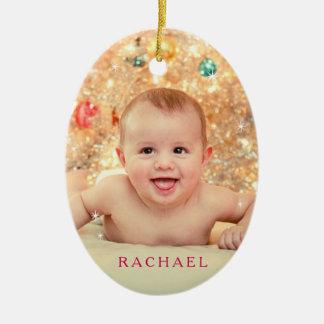 Baby ist es kalte Außenseite im Rot Keramik Ornament
