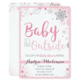 Baby ist es kalte äußere Babyparty-Einladung 12,7 X 17,8 Cm Einladungskarte