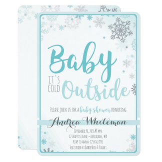 Baby ist es kalte äußere Babyparty-Einladung Karte
