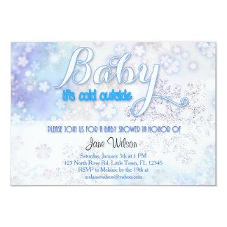 Baby ist es kalte äußere Babyparty Karte