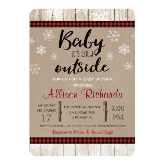 Baby ist es kalte äußere Babypartyeinladung 12,7 X 17,8 Cm Einladungskarte
