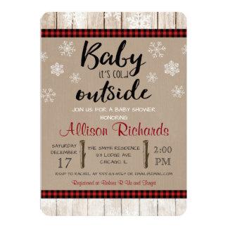Baby ist es kalte äußere Babypartyeinladung Karte