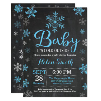 Baby ist es kalte äußere Winter-Babyparty-Karte Karte
