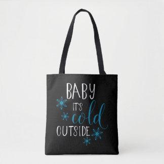 Baby ist es kaltes äußeres Weihnachten Tasche
