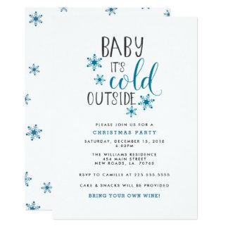 Baby ist es kaltes externes WeihnachtsParty Karte