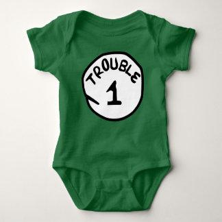 Baby-Jersey-Bodysuit des Problem-1 Baby Strampler