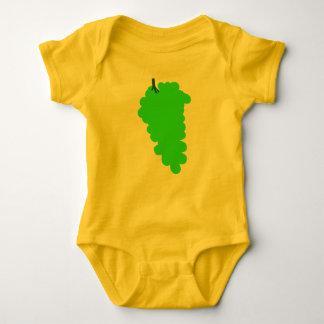 Baby-Jersey-Bodysuit mit Trauben Baby Strampler