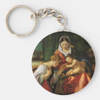 Baby-Jesus-Heiliges Catherine und Mary Schlüsselanhänger