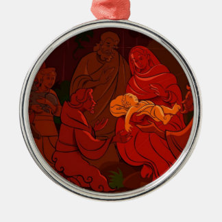 Baby-Jesus-Weihnachtsbaum-Verzierung Silbernes Ornament